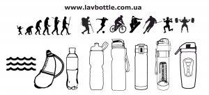 Cпортивные бутылки для воды и термосы